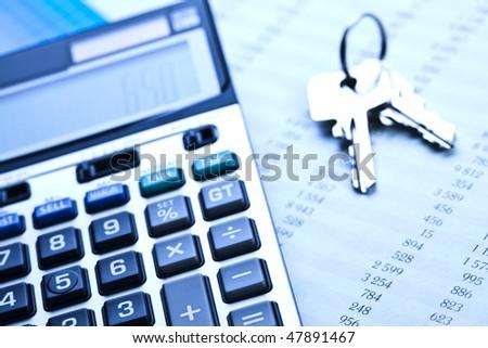 Report and calculator - stock photo