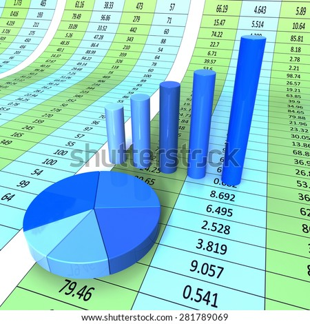 Report Graph Indicating Data Graphic And Forecast - stock photo