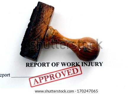 Report of work injury - stock photo