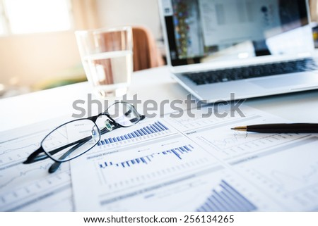 Report the business profitable growth. - stock photo