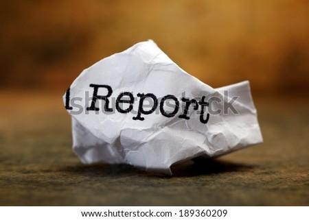 Report trash - stock photo