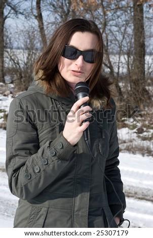 reporter - stock photo