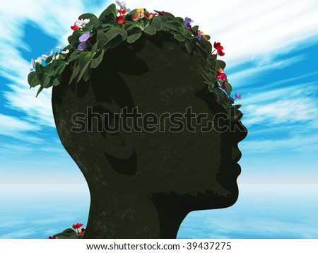 representation of disastrous result of climate change - stock photo
