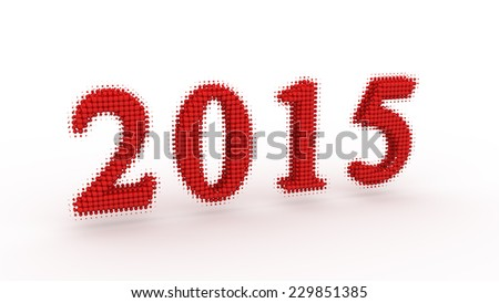 Represents the new year 2015 - stock photo
