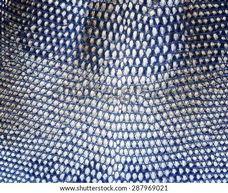 Reptile skin,snake skin, white black leather background. deerskin - stock photo
