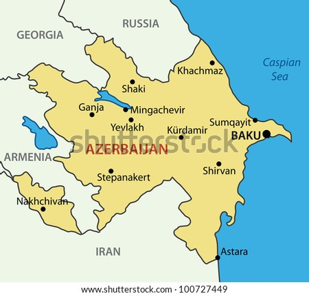 Republic of Azerbaijan -  map