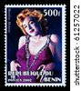 REPUBLIC OF BENIN - CIRCA 2002: A postage stamp printed in the Republic of Benin showing Marilyn Monroe, circa 2002 - stock
