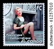 REPUBLIC OF CONGO - CIRCA 2005: A postage stamp printed in the Republic Of Congo showing Marilyn Monroe, circa 2005 - stock photo