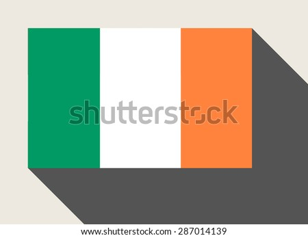 Republic of Ireland flag in flat web design style. - stock photo