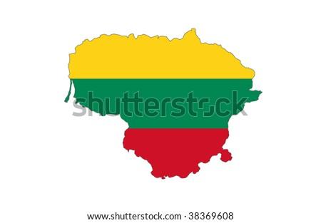 Republic of Lithuania - stock photo
