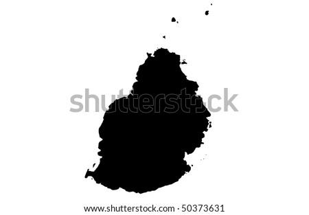 Republic of Mauritius - stock photo