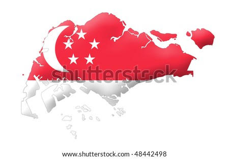 Republic of Singapore - stock photo