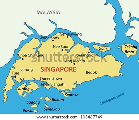 Map of singapore stock images royalty free images vectors republic of singapore map publicscrutiny Images