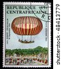 REPUBLIC OF SOUTH AFRICA - CIRCA 1983: A stamp printed in Republic of South Africa shows Airship flying by J. and L. Robert and Colin Hullin 19 September, 1784, circa 1983 - stock photo