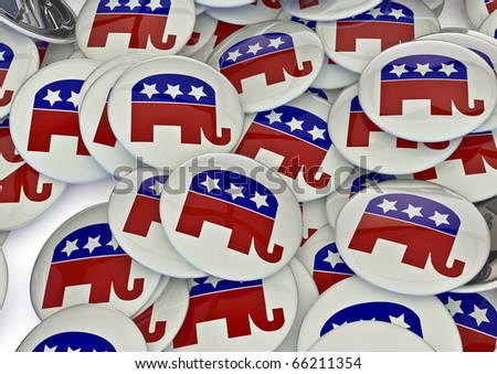 Republican badges - stock photo