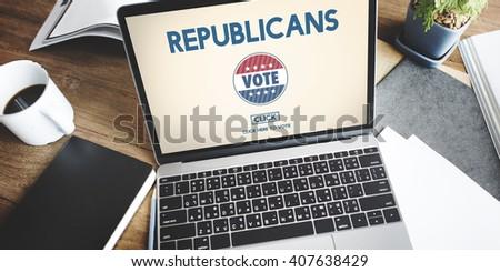 Republican Democrat Election Group President Concept - stock photo