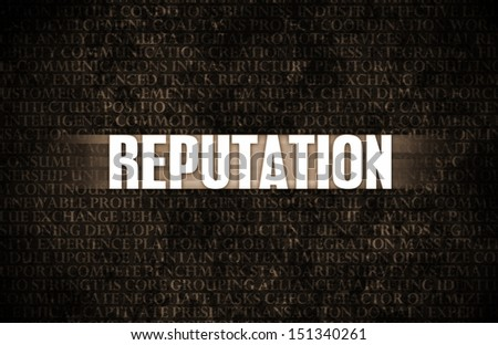 Reputation in Business as Motivation in Stone Wall - stock photo