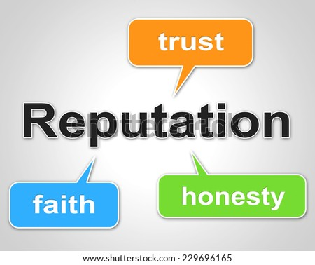Reputation Words Representing Believe In And Trust - stock photo