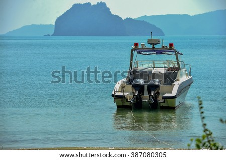 Rescue boat rescue  - stock photo