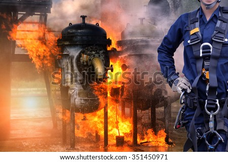 Rescue fire building. - stock photo
