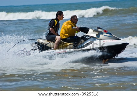 Rescue Jetski at the European Jet Ski Championship in Zandvoort, The Netherlands
