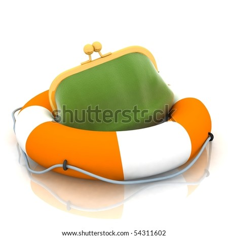 rescue of the personal purses - stock photo