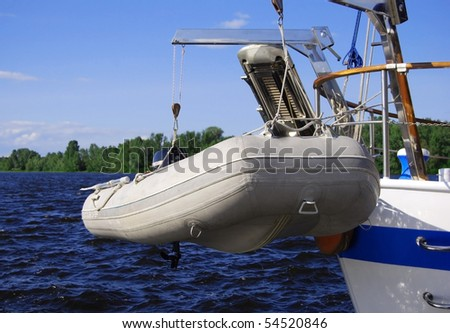 rescue on the water - stock photo