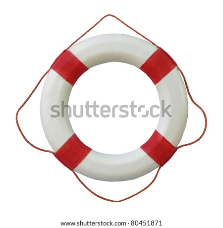 rescue wheel on a white background - stock photo