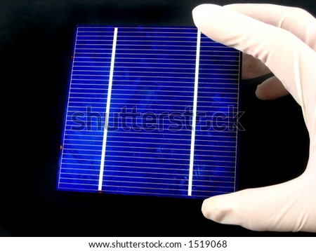 Research and development in solar cells - stock photo