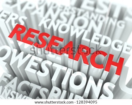 Research Background Design. Scientific Research Word Cloud Concept. - stock photo
