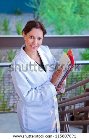 Research Business Woman - stock photo