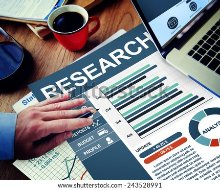 Research Businessman Working Calculating Thinking Planning Paperwork Concept - stock photo