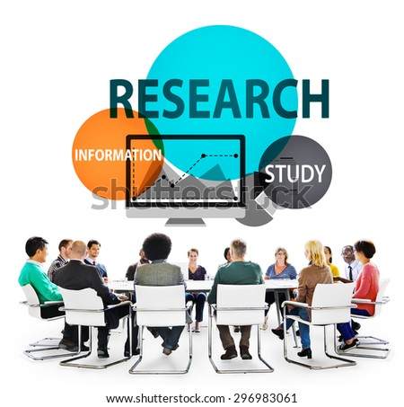 Research Search Searching Information Study Knowledge Concept - stock photo