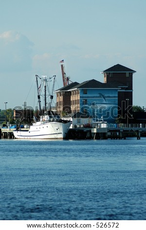 Research Ship - stock photo