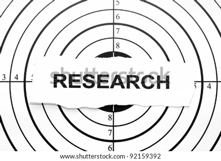 Research target - stock photo