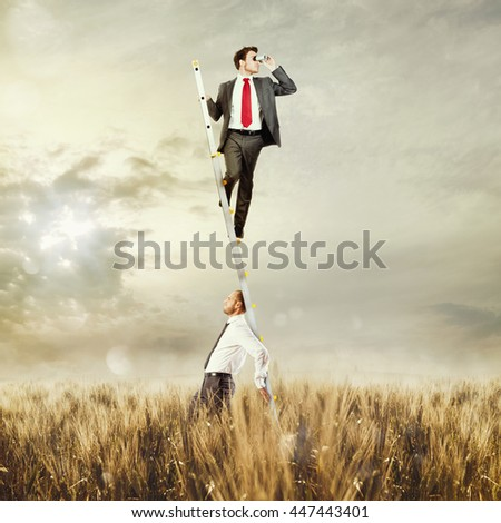 Research with support - stock photo
