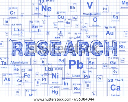 Research word on periodic table symbols stock illustration 636384044 research word on periodic table symbols graph paper background urtaz Images