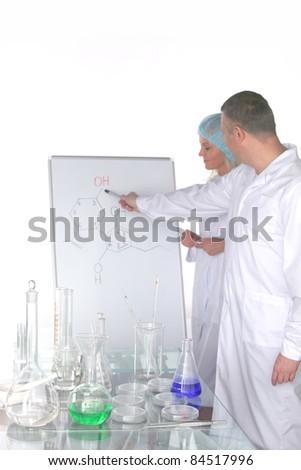 researchers - stock photo