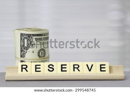 Reserve - stock photo