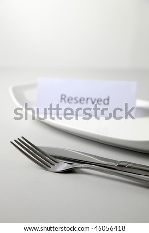 reserve sign on the plate on the plain background