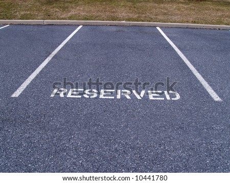 reserved parking spot - stock photo