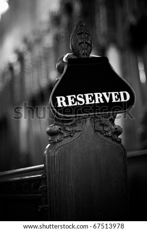 Reserved Sign - stock photo