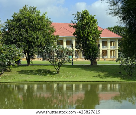 Residence building at the Bang Pa-In royal summer palace near Ayutthaya, Thailand