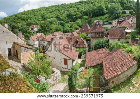 Residence in Saint Circ Lapopie in France - stock photo