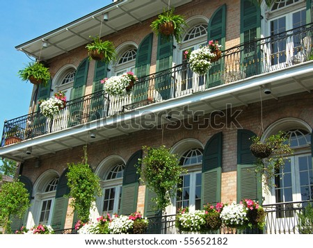 Residence in the French Quarter N.O. - stock photo
