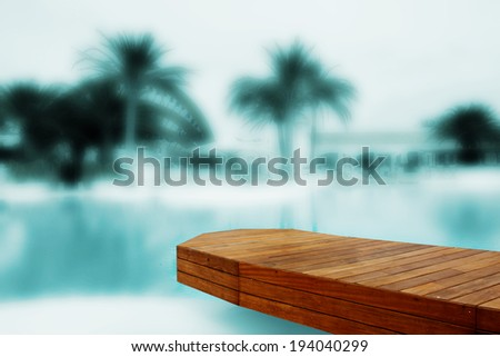 residence with swimming pool in ibiza - stock photo