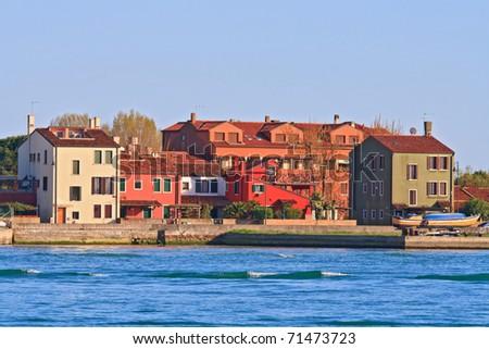 residence zone in Lido Island Venice Italy - stock photo