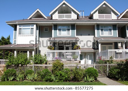 Residences in South Richmond BC a close neighborhood.