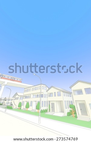 Residential and new transportation system - stock photo
