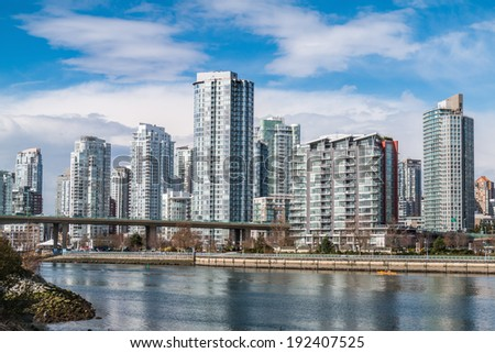 Residential area of Downtown Vancouver, Canada